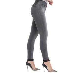 Luxe Denim Skinny Cuff Pull On Jeans